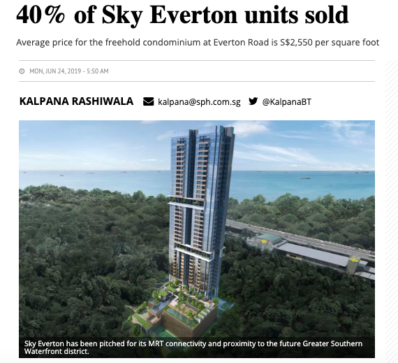 40% of Sky Everton units sold