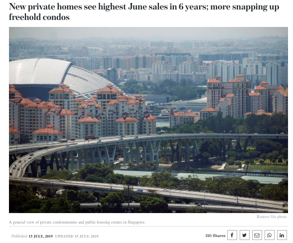 New private homes see highest June sales in 6 years; more snapping up freehold condos Read more at https://www.todayonline.com/singapore/new-private-homes-see-highest-june-sales-6-years-more-snapping-freehold-condos